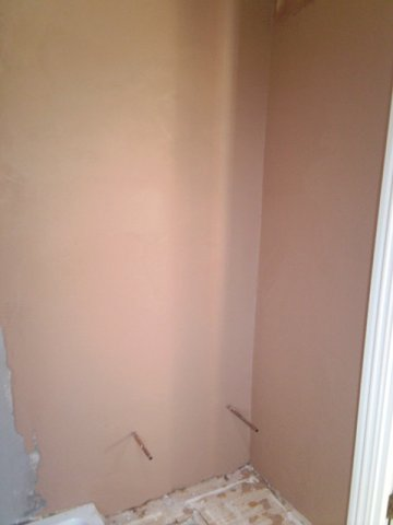 Plastered wall before decoration.
